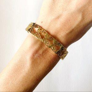Kendra Scott Filagree Gold Bangle Bracelet